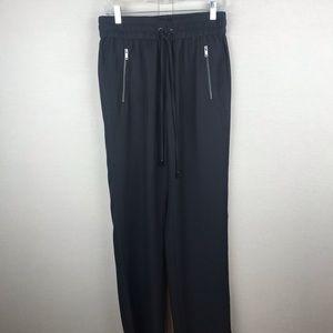 DKNY Black Drawstring Palazzo Dress Pants